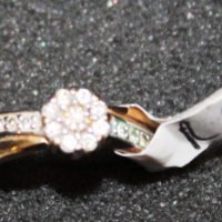 Ring 2.5 Gram 9CT with diamonds S022284A #Rosettenvillepawnshop