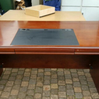 Executive desk Leather Inlay no drawers