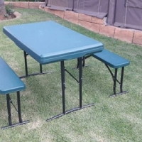 Camping table and benches