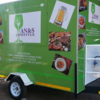 3000 X 1800 X 2000 CATERING TRAILER.