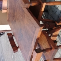 Four chair wooden dining room set for sale