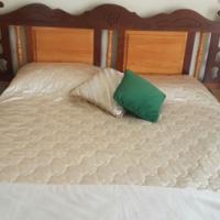 Imbuia and Yellow Wood Bedroom Set