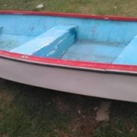 Fishing boat no motor no trailer just the hull.
