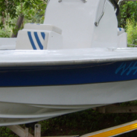 Fishing boat with 75 Yamaha trim tilt motor for sale  South Africa