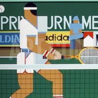 Print - Tennis Player by Giancarlo Impiglia