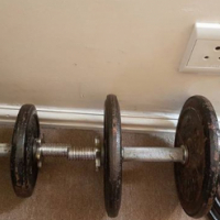 Weights +-70kg & bars