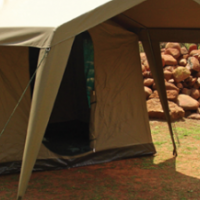 4 Sleeper Chalet Tent with Gazebo