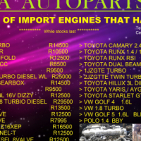 New stock that arrived import engines low mileage