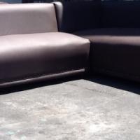 New dark brown corner lounge suite