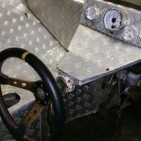 Oval track space frame race car