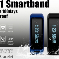 DT NO.1 F1 Heart Rate Monitor Smart Bracelet Bluetooth Fitness Tracker - Black (NEW in SA)