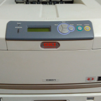 OKI C801 COLOUR LASER PRINTER WITH EXTRA TONERS AND DRUMS