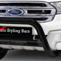 Ford Ranger 2012 - 2015 & 2016+ Nudge Bar 409 Stainless Steel Powder Coated Black R3300