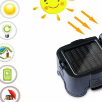 ZUKE Solar Rechargeable LED Torch