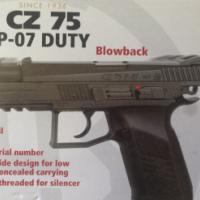 CZ 75 P-07 DUTY Blow back BB gun
