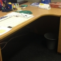 Office desks, chairs and visitors chairs