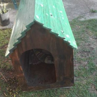 Wooden dog kennel ,(,medium)