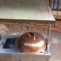 Roast Server with Copper Lid