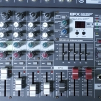 Leem LFX-4D 4-Channel 200W Powered Mixing Console Mixer