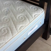 Queen bed with wooden frame