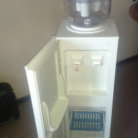 mirror bar fridge and hot/cold water dispenser