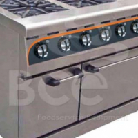 Anvil 4 Burner Combi Flat Top / Gas Stove / Electric Oven