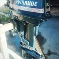 Evinrude outboard motor.