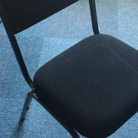 Steel legged office chair