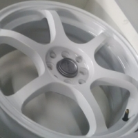 """17"""" ray white wheels brand new for sale 4/100, 4/108 pcd"""