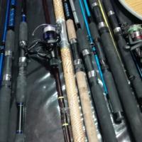 Fishing Rods, Reels, Pod & Nets
