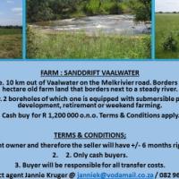 Farm Sanddrift for Sale - Vaalwater - +/-10km on the Melkrivier Road