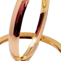 "9CT GOLD 8MM ""C"" SHAPED BANGLES   - Yellow Gold"