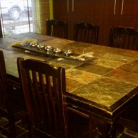 8 seater specially made dining room table