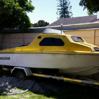 Cabin boat for sale.