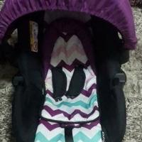 Purple Bounce Pram & Car seat Combo.