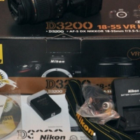 NIKON D3200 -18-55DX -55-200VR -Bag- Premium 8GB card