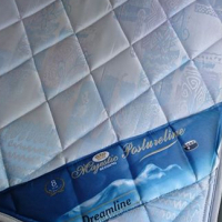 Double base and mattress with headboard
