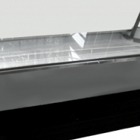 Curved Glass Display Fridges With S/Steel Base For Sale