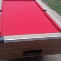 R 2 coin operated pool table