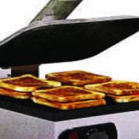 Toaster flat plate non stick