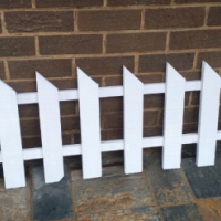 New white picket fencing