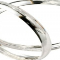 ".925 SOLID STERLING SILVER 8MM ""C"" SHAPED BANGLES"