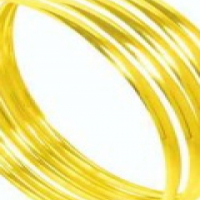 "9CT SOLID GOLD 4MM ""C"" SHAPED BANGLES"