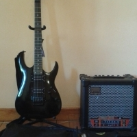 Ibanez Electric guitar & amp for sale