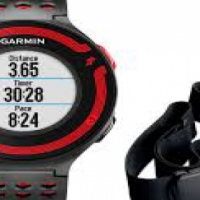 Garmin Forerunner 220 with Heart Rate Monitor Black and Red