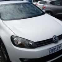 A Vw Golf Tsi 2012 model, 115000km, white in color, 4-door, factory a/c, c/d player, central locking