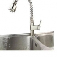 X-LARGE LUXURIOUS NICKEL BRUSHED KITCHEN PULL OUT SPRAY BASIN SINK FAUCET TAPS MIXER