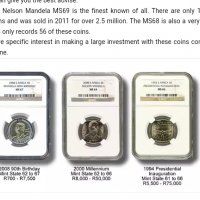 I want to exchange mandela R5 coins for money