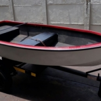 Small boat and trailer
