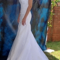Wedding dress. Beautiful Lace Mermaid Dress Size 10 for sale by Olive Tree Bridal Designs for sale  Pretoria East